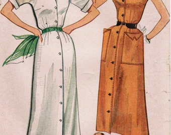 1950s Simplicity 4246 Vintage Sewing Pattern Misses Dress Size 14 Bust 32