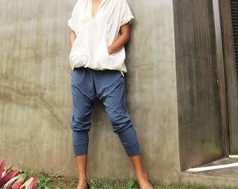 Ninja funky pants...Jersey cotton Blue Gray ( M,L,XL) (1412)