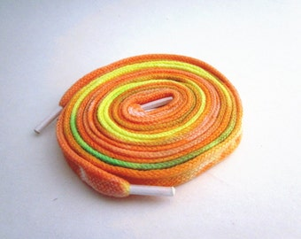 Hand Dyed Shoe Laces (45 inch length) Pumpkin Patch