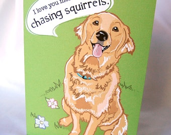 Happy Golden Greeting Card
