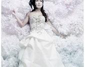 Wedding White Tissue Pom Poms .. Wedding Reception Decoration and Bridal Shower .. Set of 20