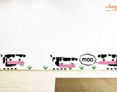 Moo Moo Cow Wall Decal