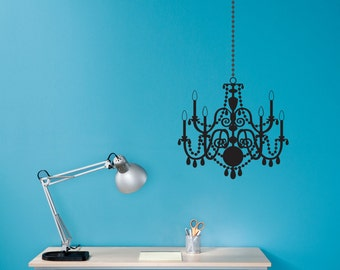 Chandelier Wall Decal - Office Wall Sticker - Bedroom Chandelier - Medium