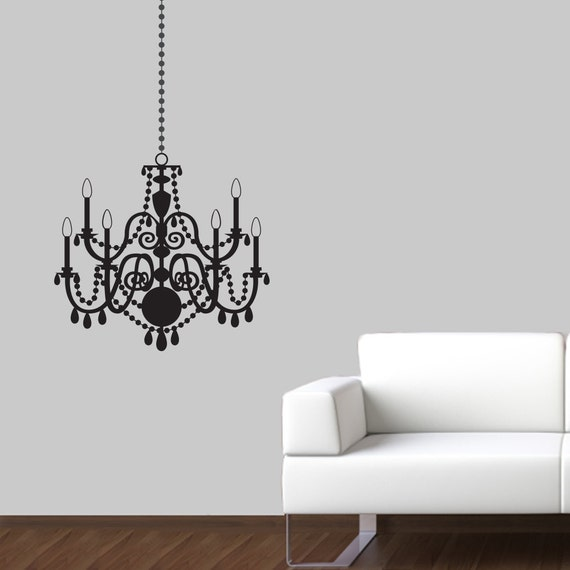 Chandelier wall decal elegant wall sticker chandelier like this item mozeypictures Gallery