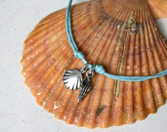 Seashell Bracelet, Seashell Anklet (many colors to choose)