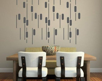 Mid Century Wall Decor mid century modern wall decor ogee wall decal geometric wall