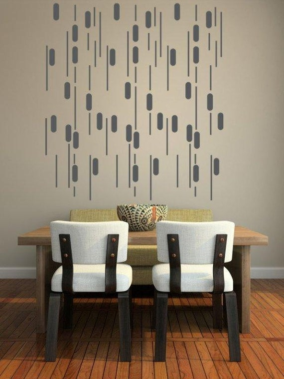 Mid Century Wall Decor mid century wall decor geometric wall decal apartment wall