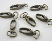 20 pcs.Zinc Antique Brass Swivel Trigger Clips Snap Hook Lobster Clasps Decorations Findings 12x37 mm. Clasps Br 1237 350 3