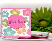 Hibiscus- Thank You Mini Cards Customer Thank You cards ( Set of 4)