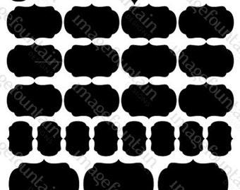 Chalkboard Vinyl Labels - Multi-pack collection - 33 Decals - Kitchen organization, weddings, storage