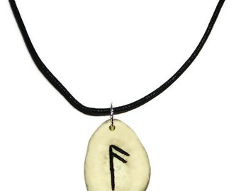 Ansuz Bone Rune Necklace