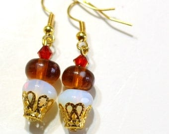 Rocky Road Ice Cream Beaded Earrings are the perfect ear candy for your summertime party or ice cream social