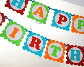 Colorful Mickey Birthday Banner, Rainbow Mickey theme party Banner Ready for your party A389
