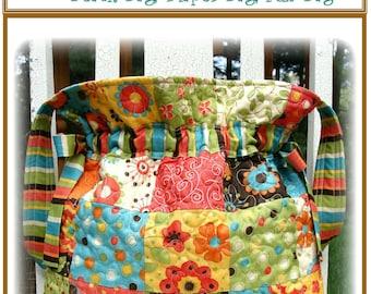 PDF Bag Pattern  Jumbo Drawstring Quilted Carlene Westberg Designs
