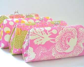 CUSTOM CLUTCH - Pink Clutch-Fuchsia Clutch-Bridesmaid Clutch- You choose the fabric