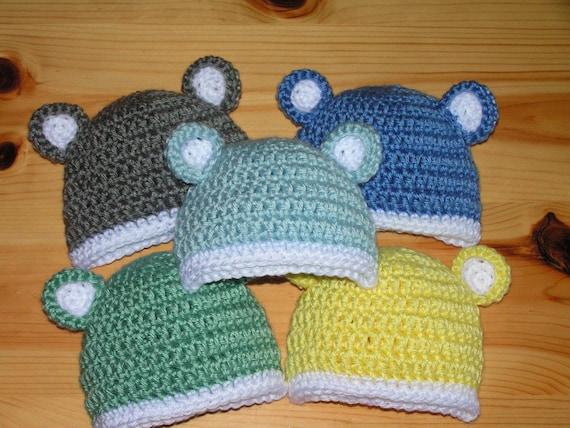 Julia Tradition Baby Bear hat for Newborn to 18month infant - Newbie Sport Bear  Spartan MSU Michigan - Choose one