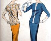 Advance 8667 Womens Blouse Pencil Skirt Sewing Pattern