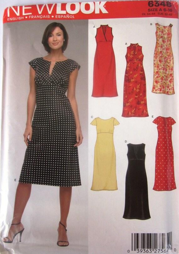 New Look 6348 Womens Empire Waist Dress Pattern