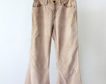 Levi's corduroys, vintage 1980s cords with flare leg pants 32 x 29