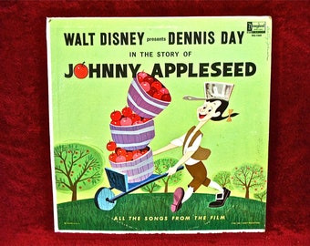 WALT DISNEY  - Dennis Day in the story of Johnny Appleseed- 1964 Vintage Vinyl Record Album