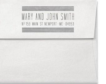 Custom Address Stamp - Personalized Stamp - Personalized Address Stamp - Art Deco - Wedding - Holidays - Couples - Housewarming - DIY Prints