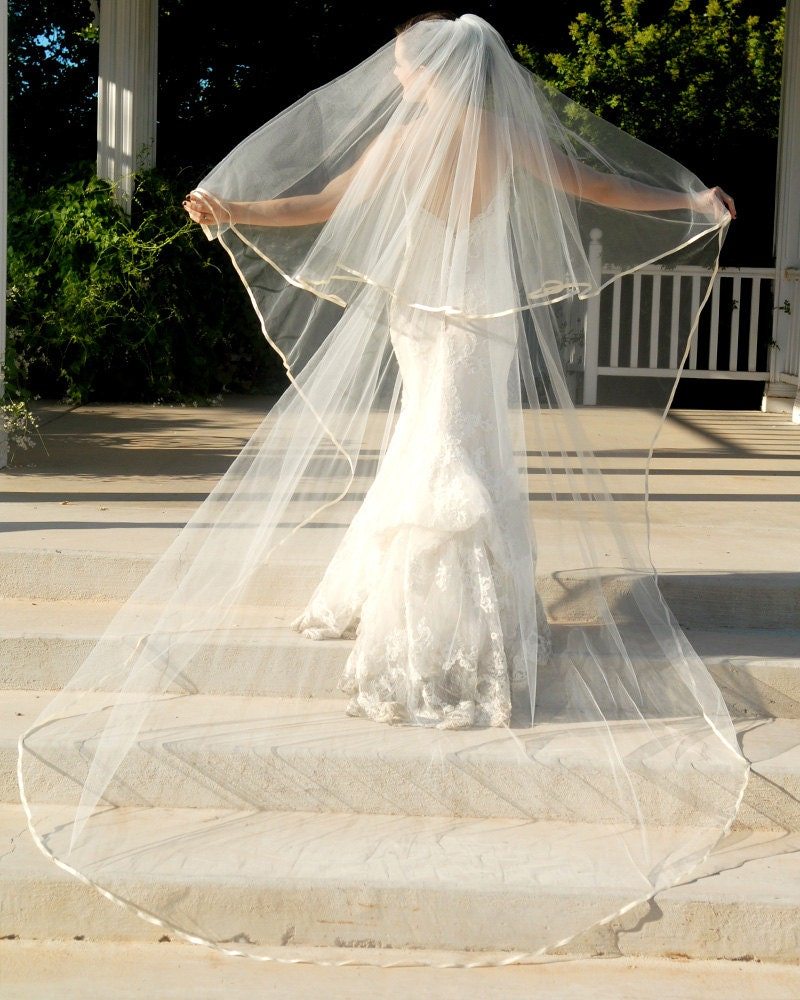 Full Cathedral Wedding Veil Bridal Veil Drop Style With