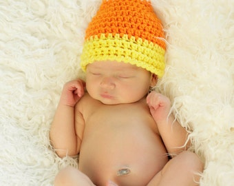 Halloween Candy Corn Hat - Crochet