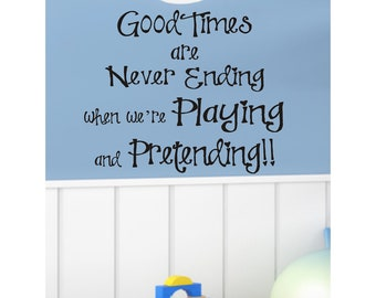 Playroom Childrens Decor Vinyl Lettering - Childrens wall decal for a boy or girl-  Vinyl Wall Art -Vinyl Wall Decal