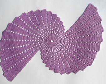 New crochet doily - runner /purple doilies / table topper /home decor /