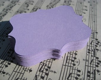 60 Lilac Fancy Top Notes. 3 inch. Or CHOOSE YOUR COLORS. Weddings, Favor, Place Cards, Escort, Table.