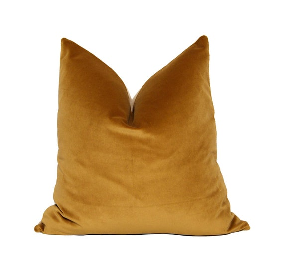 Gold Solid Velour Pillow