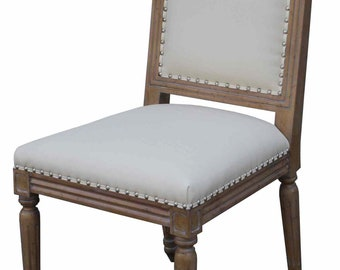 Classic Custom Wood and Upholstered Dining Chair