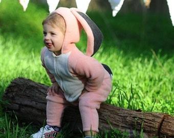 Pink Bunny Costume/ Halloween Costume/ Bunny Outfit/ Halloween Bunny Toddler/ Toddler Gift/ Halloween kids / Halloween Bunny Costume