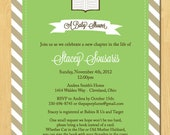 Book Collection Baby Shower Invitation Printable