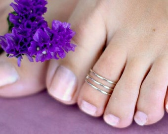 Triple Band Toe Ring or Knuckle Ring