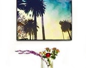Palm Trees Canvas Art, Palm Tree Photography Canvas Wall Art, California Art, Beach Decor, Retro, Beach Wall Art,  In Stock
