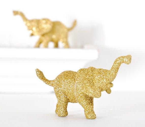 Elephant Ornaments Decoration In Metallic Gold By Wishdaisy