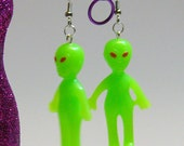 Glow-In-The-Dark Alien Earrings