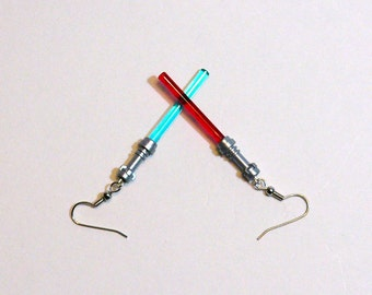 Lightsaber Earrings Jedi vs Sith