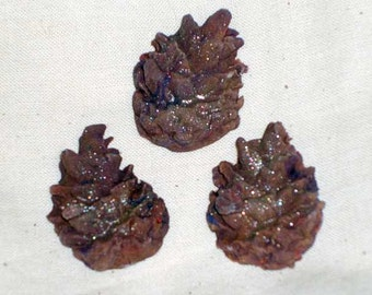 Gumpaste Pinecone Cake toppers, cupcake toppers for Weddings, Showers