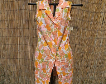 Brand new Vintage 1970's Button Front Dress