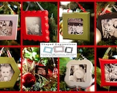 4x4 unfinished picture frame - Choose your shape - Christmas ornaments