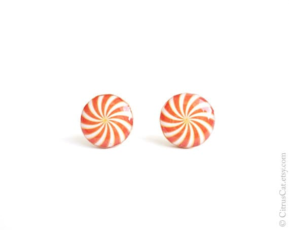 SALE - Orange candy stud earrings