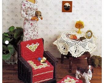 Sitting Pretty / Fashion Doll Furniture / Annie's Plastic Canvas Club  FP16-01