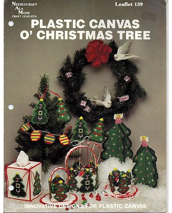 O'Christmas Tree  Plastic Canvas Pattern Book  Needlecraft Ala Mode leaftet 139