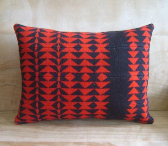 Pillow - Pendleton Wool Fabric - Arrow Native Geometric Tribal