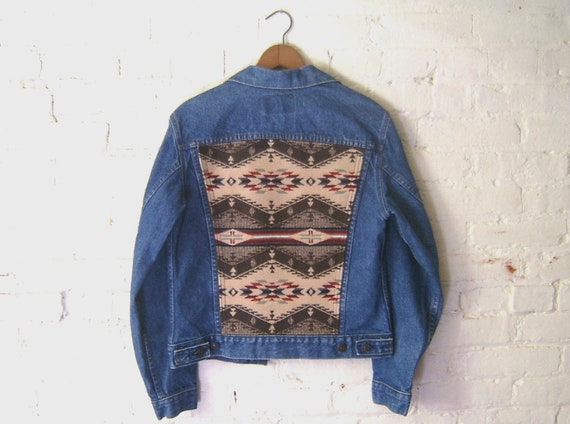 Vintage Levis Jacket, Women XS, Pendleton Fabric