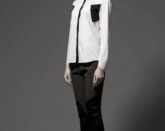 SALE - Collar Contrast Shirt