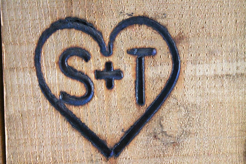 Branding Iron Custom Wedding Heart and by ReedsBlacksmithShop
