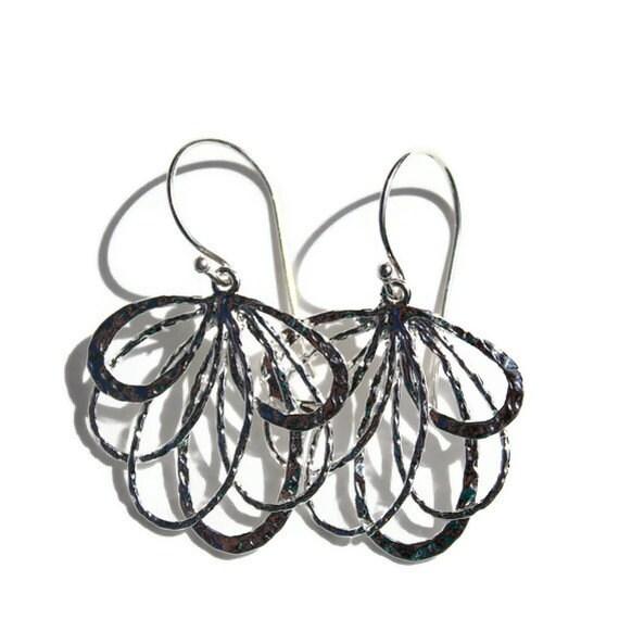 Flower Earrings Sterling Silver Earrings Fashion Jewelry